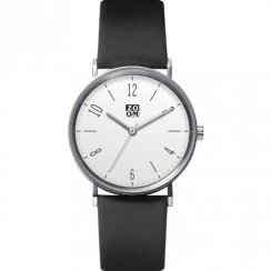 Zoom City Walk white dial leather strap Mens watch ZM.3793M.2501