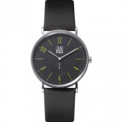 Zoom Club Night black dial leather strap Mens watch ZM.3772M.2511