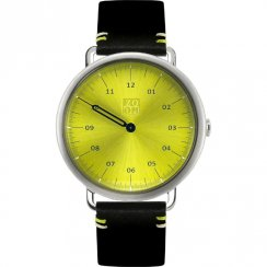 Zoom Lens green dial leather strap Mens watch ZM.3826M.2511