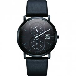 Zoom Muse black dial chronograph leather strap Mens watch ZM.7100M.2502