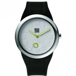 Zoom Sunday white dial rubber strap Mens watch ZM.3755M.9501
