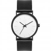 Zoom Lounge black dial leather strap Mens watch ZM.3811M.2501